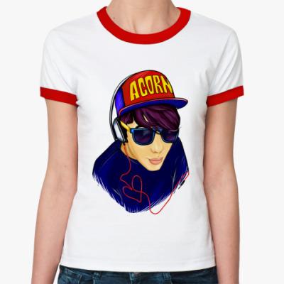 Женская футболка Ringer-T AcornMusic