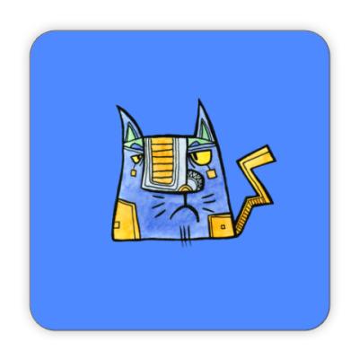 Костер (подставка под кружку) Кот Молния