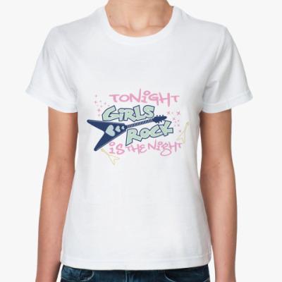 Классическая футболка Girls rock