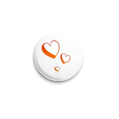 Значок 25мм Сердца