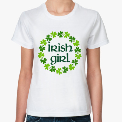 Классическая футболка Irish girl