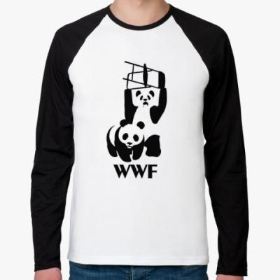 Футболка реглан с длинным рукавом  WWF