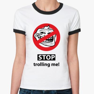 Женская футболка Ringer-T тролль