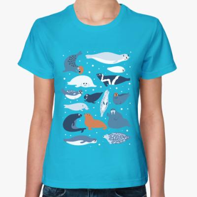 Женская футболка Ластоногие