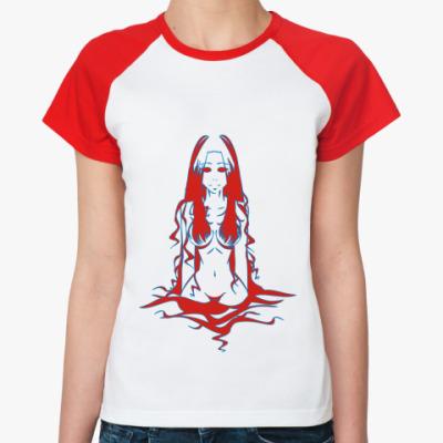 Женская футболка реглан Водяная Нимфа