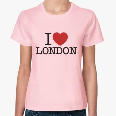 Женская футболка I Love London