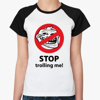 Женская футболка реглан тролль