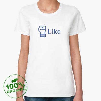 Женская футболка из органик-хлопка Like to protest