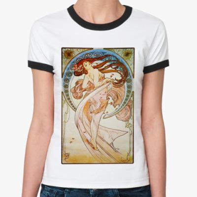 Женская футболка Ringer-T альфонсо муха