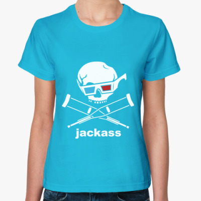 Женская футболка  Jackass 3d