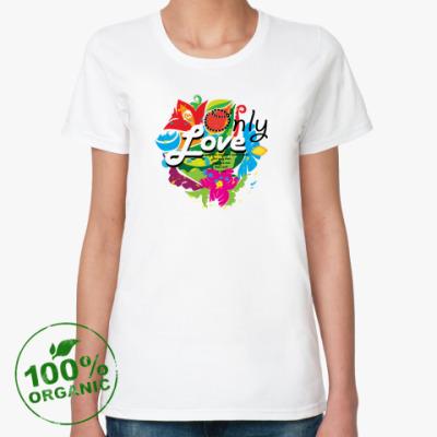 Женская футболка из органик-хлопка Only love