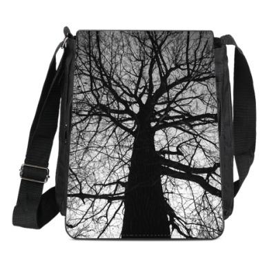 Сумка-планшет Готическое дерево