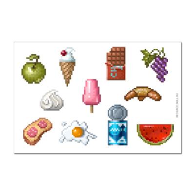 Наклейка (стикер)   Еда