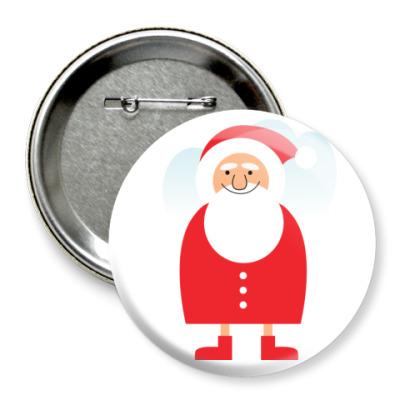 Значок 75мм  Дед Мороз