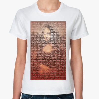 Классическая футболка Джоконда и лабиринт