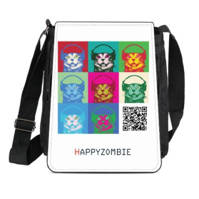 Сумка-планшет HAPPYZOMBIE QR pop-art