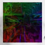 Пиксельная глитч сетка