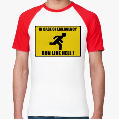 Футболка реглан run