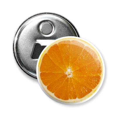Магнит-открывашка Апельсин