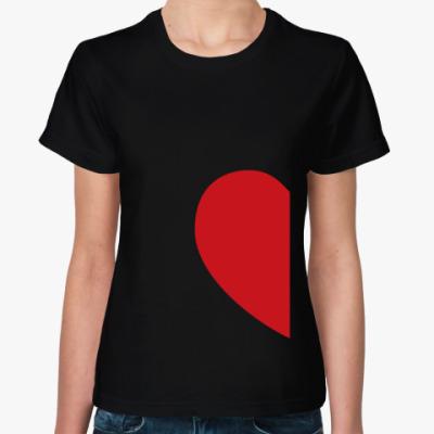 Женская футболка Cердце