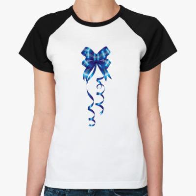 Женская футболка реглан Новый год
