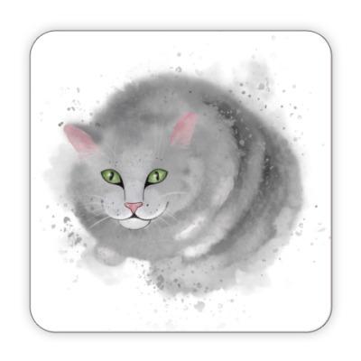 Костер (подставка под кружку) Серый кот, кошка