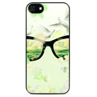 Чехол для iPhone Мир сквозь очки
