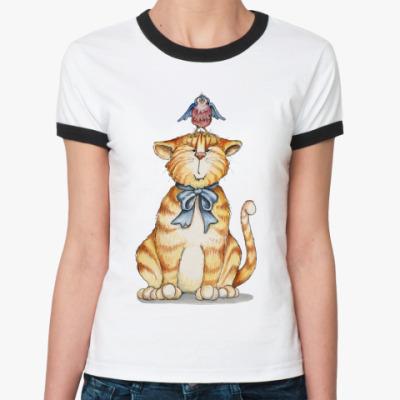Женская футболка Ringer-T Рыжик