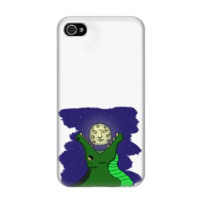 Чехол для iPhone 4/4s Крокодил и луна