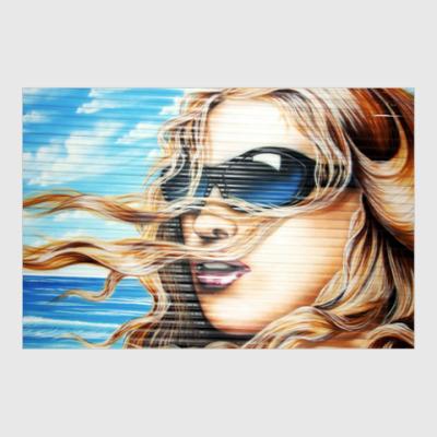 Постер Граффити девушка