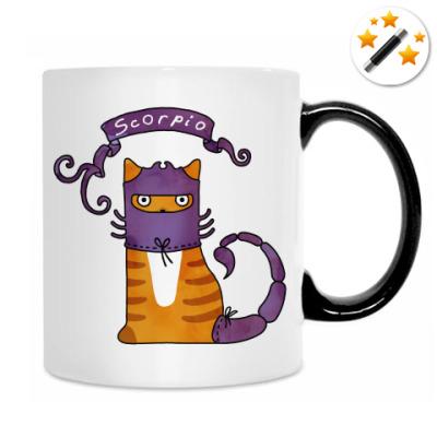 Кот Скорпион знак Зодиака
