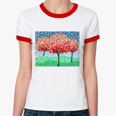 Женская футболка Ringer-T Сад