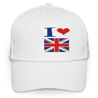 Кепка бейсболка Я люблю Англию