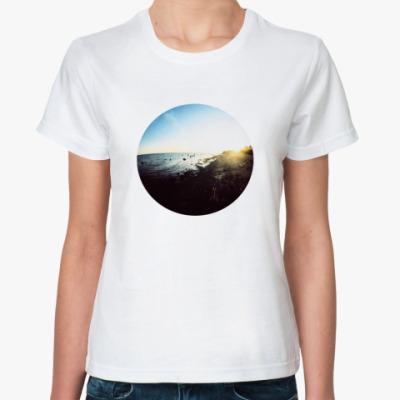 Классическая футболка футболка «fish eye»