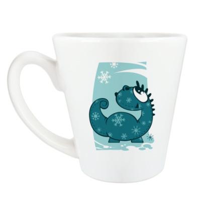 Чашка Латте зимний дракон