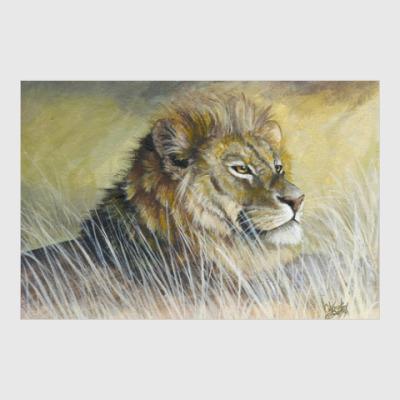 Постер лев