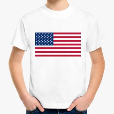 Детская футболка  Флаг США