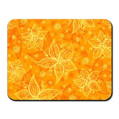 Коврик для мыши  Апельсиновые цветы