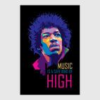 Постер 30 х 45 см Jimi Hendrix