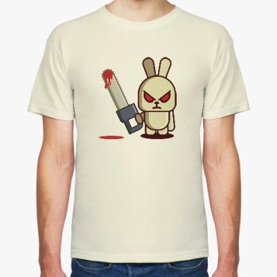 Футболка Злой кролик с пилой