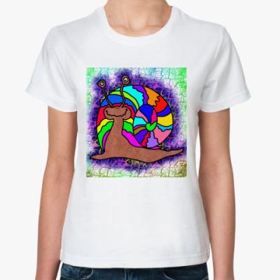 Классическая футболка Улитка