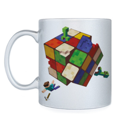 Кружка Майнкрафт и кубик Рубика