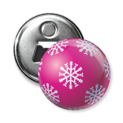 Магнит-открывашка Новогодний шар