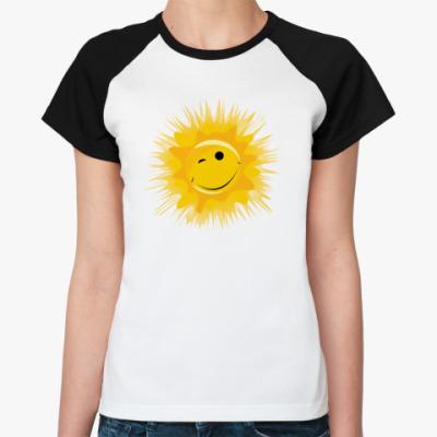 Женская футболка реглан Солнце