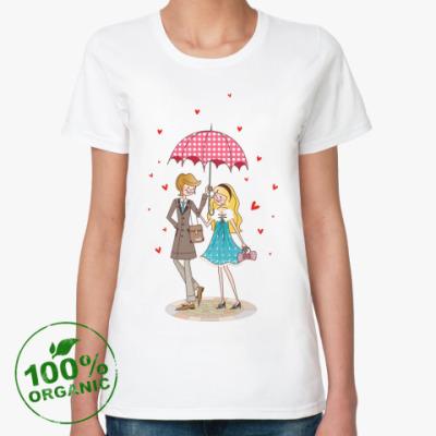 Женская футболка из органик-хлопка  PinkLove