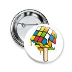 Значок 50 мм Кубик Рубика | Спидкубинг