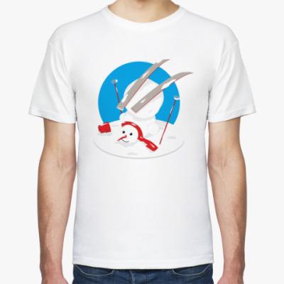 Футболка Неуклюжий снеговик Новый Год