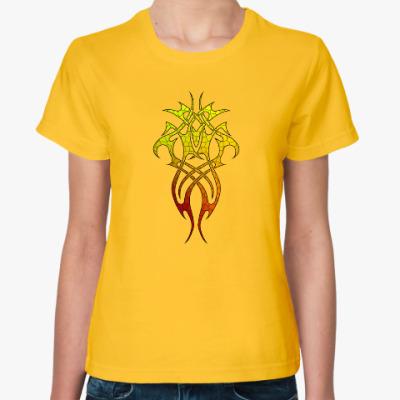Женская футболка Трайбл