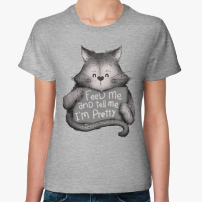 Женская футболка Накорми Меня