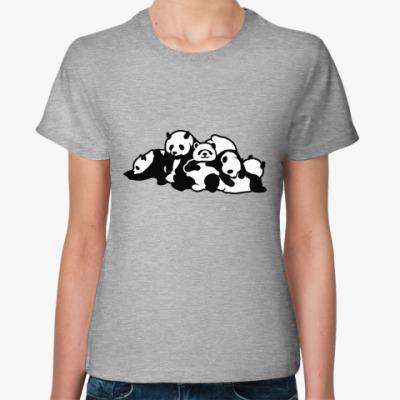 Женская футболка Панды